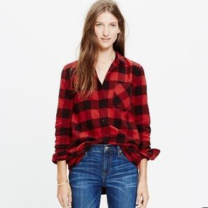 Madewell Flannel Boyfriend Shirt Buffalo Check